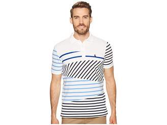 Polo Ralph Lauren Mixed Striped Mesh Polo Knit Men's Clothing