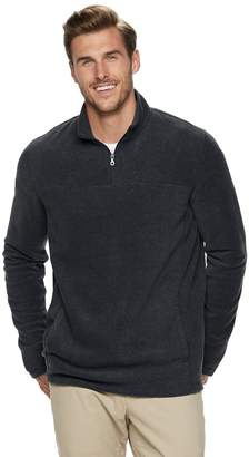 Croft & Barrow Big & Tall Classic-Fit Extra-Soft Arctic Fleece Quarter-Zip Pullover