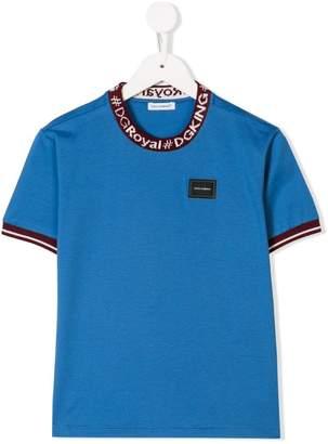 Dolce & Gabbana ribbed collar T-shirt