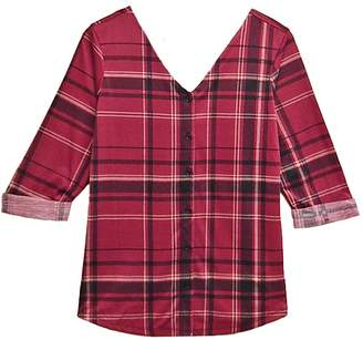 French Laundry Pink Plaid Top
