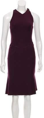 Alaà ̄a Virgin Wool Midi Dress Violet Alaà ̄a Virgin Wool Midi Dress