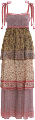 Zimmermann Juniper Tiered Tie Dress