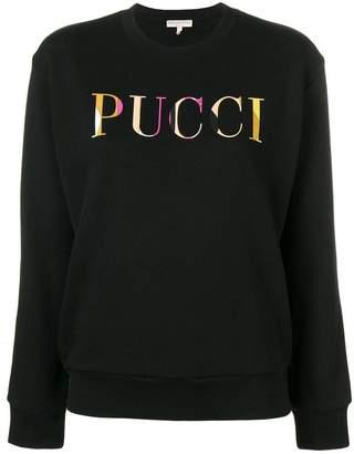 Emilio Pucci long sleeve logo sweater