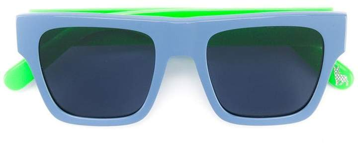 contrast square sunglasses