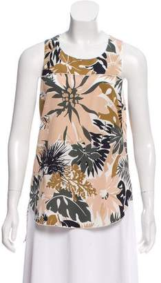 Rag & Bone Silk Printed Sleeveless Top