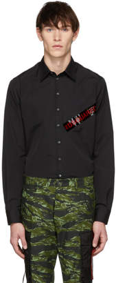 DSQUARED2 Black Punk Logo Tape Carpenter Shirt