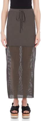 Lost & Found Net Drawstring Maxi Skirt