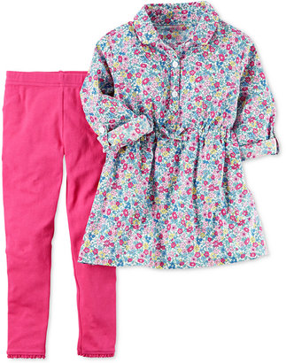 Carter's 2-Pc. Floral-Print Tunic & Leggings Set, Baby Girls (0-24 months) $24 thestylecure.com