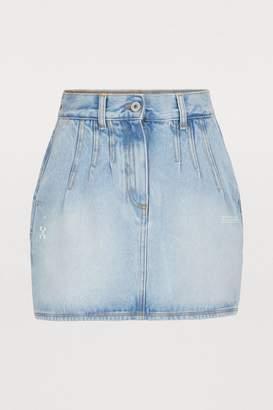 f3b537c68f Off-White Off White Denim mini skirt