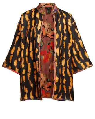 Etro Reversible Silk Twill Jacket - Womens - Multi