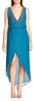 Haute Hippie Falcon Embellished Silk Dress