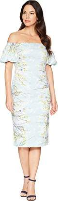 Maggy London Women's Blossom Branch Cotton Sheath Dress