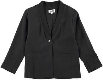 Molo Harmoney Shawl-Collar Jersey Blazer, Black, Size 4-14
