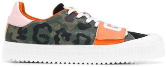 GCDS camouflage print sneakers