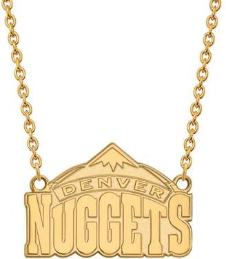 LogoArt NBA Denver Nuggets 10kt Yellow Gold Large Pendant with Necklace