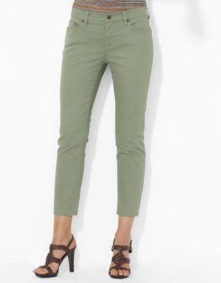 Lauren Ralph Lauren Petite Slim-Fit Straight Cropped Jeans