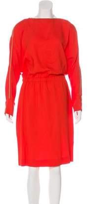L'Agence Midi Crepe Dress