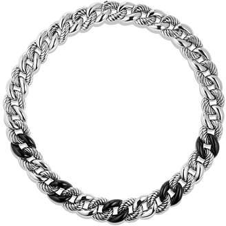 David Yurman Belmont Curb Link Necklace with Black Onyx