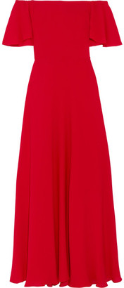 Valentino - Off-the-shoulder Silk-georgette Gown - Red $5,790 thestylecure.com