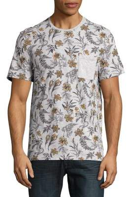 Black & Brown Black Brown Floral-Print Cotton Tee