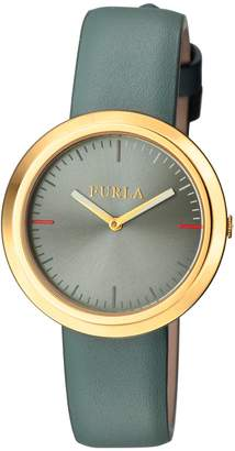 Furla Watches Women's Valentina Stainless Steel & Leather Watch, 34mm
