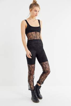 00f2a93e9ef7 Lioness Broadway Sheer Lace Jumpsuit