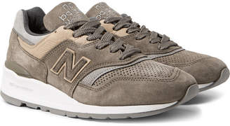 New Balance 997 Nubuck, Suede And Mesh Sneakers