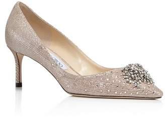 e1199bd24559 ... Bloomingdale s · Jimmy Choo Women s Joan 60 Glitter Mesh   Leather  Pointed Toe Mid Heel Pumps