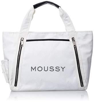 Moussy (マウジー) - [マウジー] TOTE LOGO NYLON オフホワイト