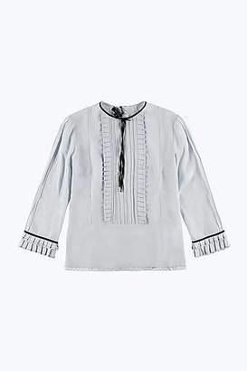 CONTEMPORARY Long Sleeve Ruffle Blouse