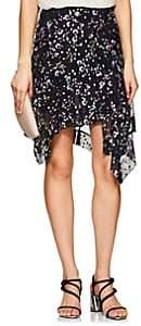 Isabel Marant Women's Myles Floral Silk Asymmetric Skirt-Navy