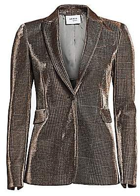 Akris Punto Women's Metallic Lurex Glen Check Blazer