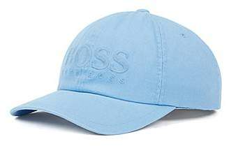 abe808ff0cc HUGO BOSS Logo baseball cap in cotton twill