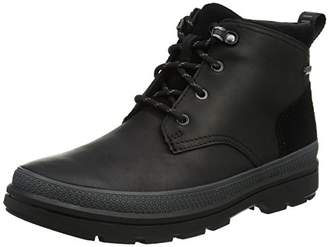 Clarks Men's RushwayMid GTX Classic Boots, (Black Leather-)