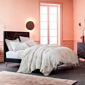 west elm Roar + RabbitTM Brass Geo Inlay Bed - Ebony