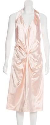 Salvatore Ferragamo Silk-Blend Midi Dress