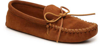 Minnetonka Leather Laced Softsole Slipper - Men's
