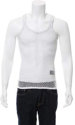 Burberry Perforated Mesh Sleeveless T-Shirt
