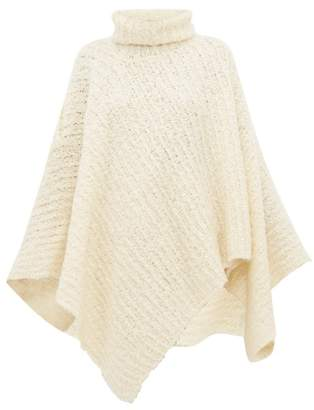 Jacquemus Roll Neck Wool Blend Poncho - Womens - Ivory