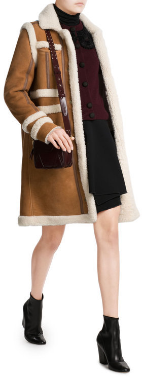 Carven Carven Sheepskin Coat with Shearling
