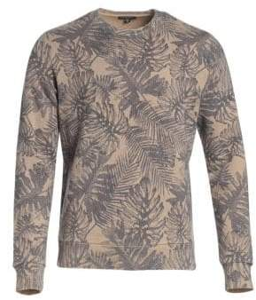 Saks Fifth Avenue MODERN Tropical Print Sweatshirt