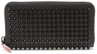 Christian Louboutin Zip-around spike-stud wallet