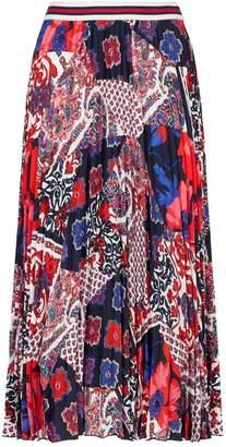 Claudie Pierlot Floral Print Pleated Skirt