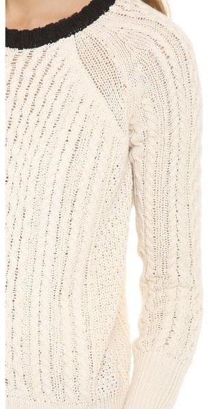 Band Of Outsiders Cable Knit Raglan Sweater