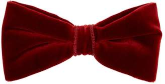 Etro Cotton-blend velvet bow tie