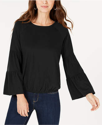 Style&Co. Style & Co Bubble-Hem Bell-Sleeve Top, Created for Macy's