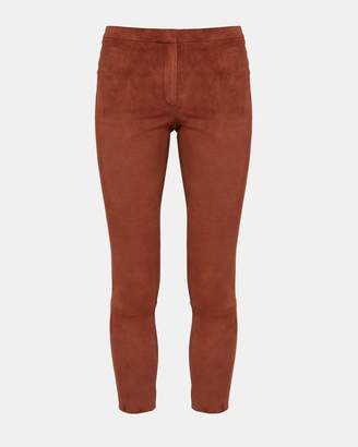 Theory Stretch Suede Classic Skinny Pant