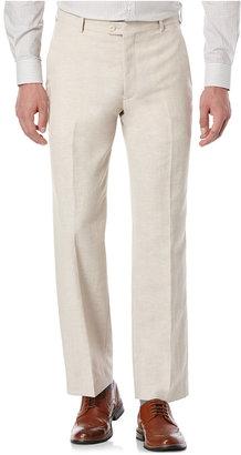 Perry Ellis Portfolio Classic-Fit Flat-Front Linen-Blend Pants $95 thestylecure.com
