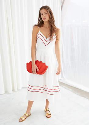 And other stories Chevron A-Line Cotton Dress