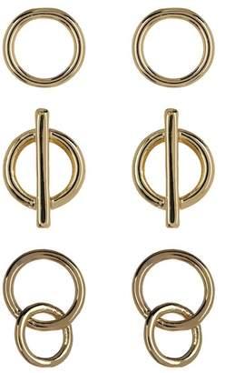 Halogen Open Ring Stud Earring Set